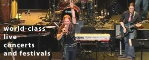 onstage at Berklee College of Music, Jeannie Gagne and Ellen Angelico